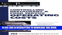 New Book The Food Service Professional Guide to Controlling Restaurant   Food Service Operating