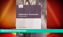 Must Have PDF  Solicitors  Accounts 2009-2010: A Practical Guide (Blackstone Legal Practice Course