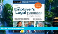 Big Deals  Employer s Legal Handbook, The: Manage Your Employees   Workplace Effectively  Best