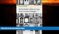 READ book  Rethinking Contract Law and Contract Design (Rethinking Law Series, #1) READ ONLINE