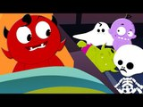 Scary Nursery Rhymes | Ten In The Bed | Childrens And Baby Songs