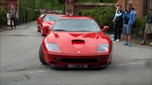 CRAZY Ferraris DRIFTING, Burnouts, Accelerations and Hard revs!!