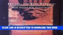 [PDF] Heard on The Street: Quantitative Questions from Wall Street Job Interviews Full Online