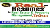 [New] Real-Resumes for Real Estate and Property Management Jobs Exclusive Full Ebook