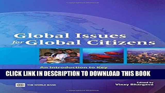 New Book Global Issues for Global Citizens: An Introduction to Key Development Challenges