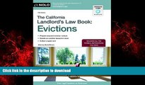 READ THE NEW BOOK The California Landlord s Law Book: Evictions (California Landlord s Law Book