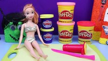 Frozen Play Doh by DisneyCarToys Halloween Costume with Frozen Anna Barbie Doll Cupcake Tutorial