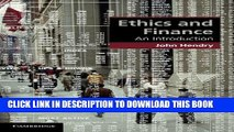[PDF] Ethics and Finance: An Introduction (Cambridge Applied Ethics) Popular Online