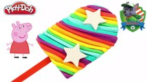 Play Doh Rainbow - Creations play-doh ice cream rainbow popsicle and peppa pig toys