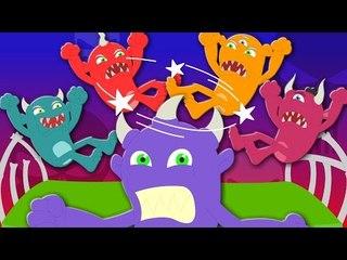 five little monsters | nursery rhymes | kids songs | children rhyme