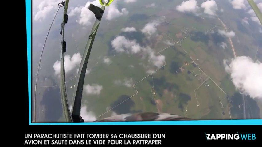 Un parachutiste fait tomber sa chaussure d'un avion et saute dans le vide pour la rattraper (vidéo)