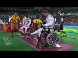 Wheelchair Fencing   OSVATH v SUN   Men's Individual Foil Cat A 1/2F   Rio 2016 Paralympic Games