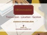 OBS Immobilier, agence immobilière à Paris.