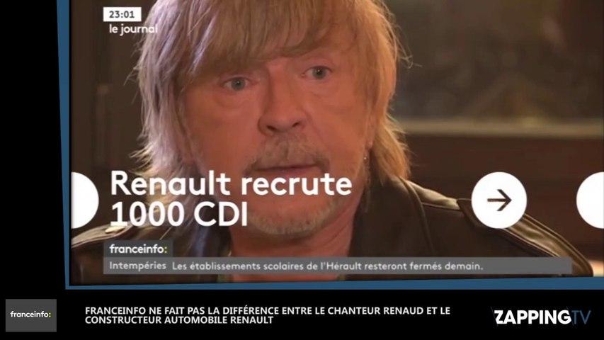 FranceInfo ne fait pas la différence entre le chanteur Renaud et le constructeur automobile Renault