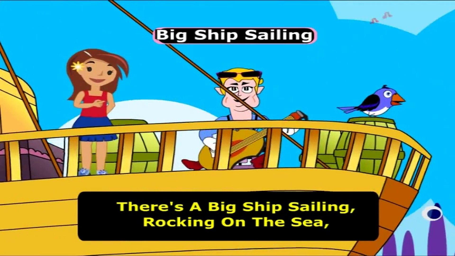 Big Ship Sailing ## Famous English Rhyme - Videos For Kids Education