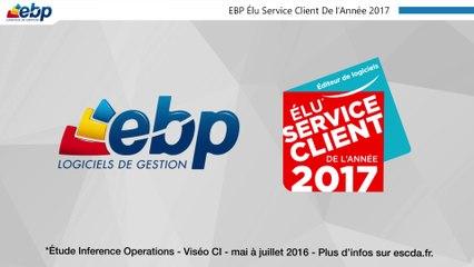 EBP Élu Service Client de l'Année 2017, catégorie éditeur de logiciels*