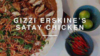Chicken Satay Salad w Asian Spiralized Vegetables | Gizzi Erksine | Wild Dish