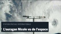 L'ouragan Nicole filmé depuis la Station spatiale internationale