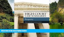 READ NOW  High Court Case Summaries, Property (Keyed to Dukeminier)  READ PDF Online Ebooks