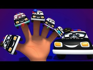 Police car finger family | 3d rhymes | baby songs