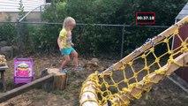 Un papa pas comme les autres, il invente un parcours en bois Ninja Warrior pour sa fille de 5 ans