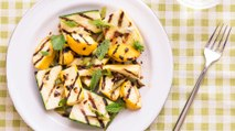 How to Make Grilled Squash and Scallions with Chile-Honey Vinaigrette