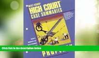 Must Have PDF  High Court Case Summaries on Property (keyed to Dukeminier, 5th)  Best Seller Books