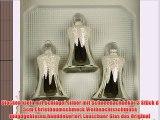 Glocken klein mit Schlägel silber mit Schneedachdekor 3 Stück d 5cm Christbaumschmuck Weihnachtsschmuck