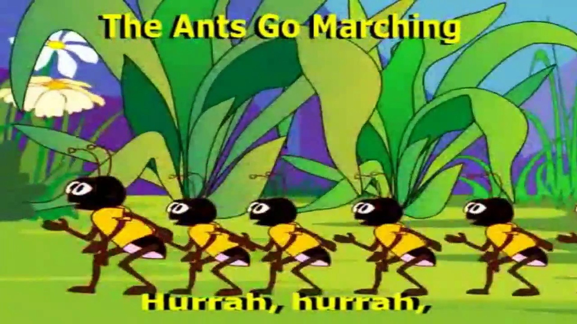 The Ants Go Marching ## Melodious English Rhyme - Videos For Kids Education
