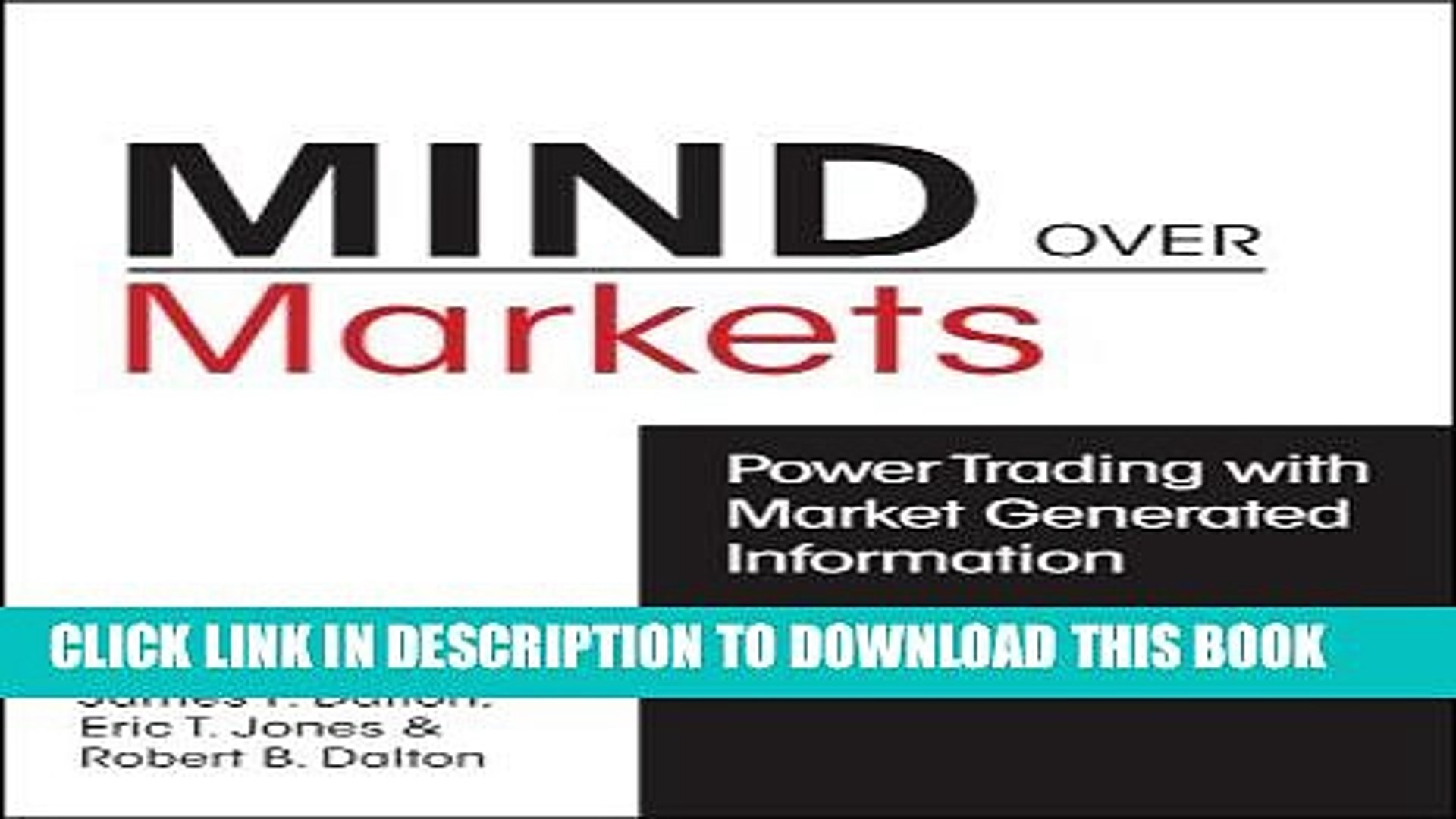 [PDF] Mind over Markets: Power Trading With Market Generated Information Full Colection