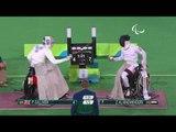 Wheelchair Fencing AL-MADHKHOORI vGILLIVER  Men's Individual Épée-B Rio 2016 Paralympic Games