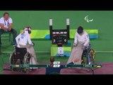 Wheelchair Fencing   VERES v BREUS   Women's Individual Epee A   Rio 2016 Paralympic Games