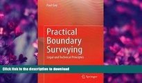 READ  Practical Boundary Surveying: Legal and Technical Principles FULL ONLINE