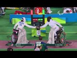 Wheelchair Fencing  DELUCA v HALKINA  Women's Individual EPEE A   Rio 2016 Paralympic Games