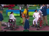 Wheelchair Fencing  DELUCA v XUFENG  Women's Individual Epee A   Rio 2016 Paralympic Games