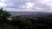 Point de vue / Plaine d'Alès  et Cévennes / Depuis le sommet de Saint Germain de Montaigu (Ruine) 1ere venue sur le site