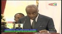 Discours épique du 1er Ministre Gabonais en juin 2009 à la mort de feu Président Omar Bongo Ondimba