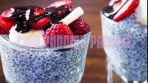 how to make Healthy Vegan Recipe  Chia Pudding Parfait -