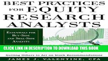 [PDF] Best Practices for Equity Research Analysts:  Essentials for Buy-Side and Sell-Side Analysts