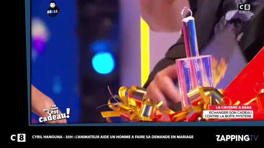 Cyril Hanouna – 35H: Un homme fait sa demande en mariage en plein direct (Vidéo)