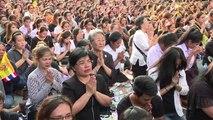 La Thaïlande en larme devant le convoi de Bhumibol Adulyadej