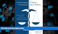 Big Deals  Contemporary Issues in Criminal Justice Policy  Full Read Best Seller