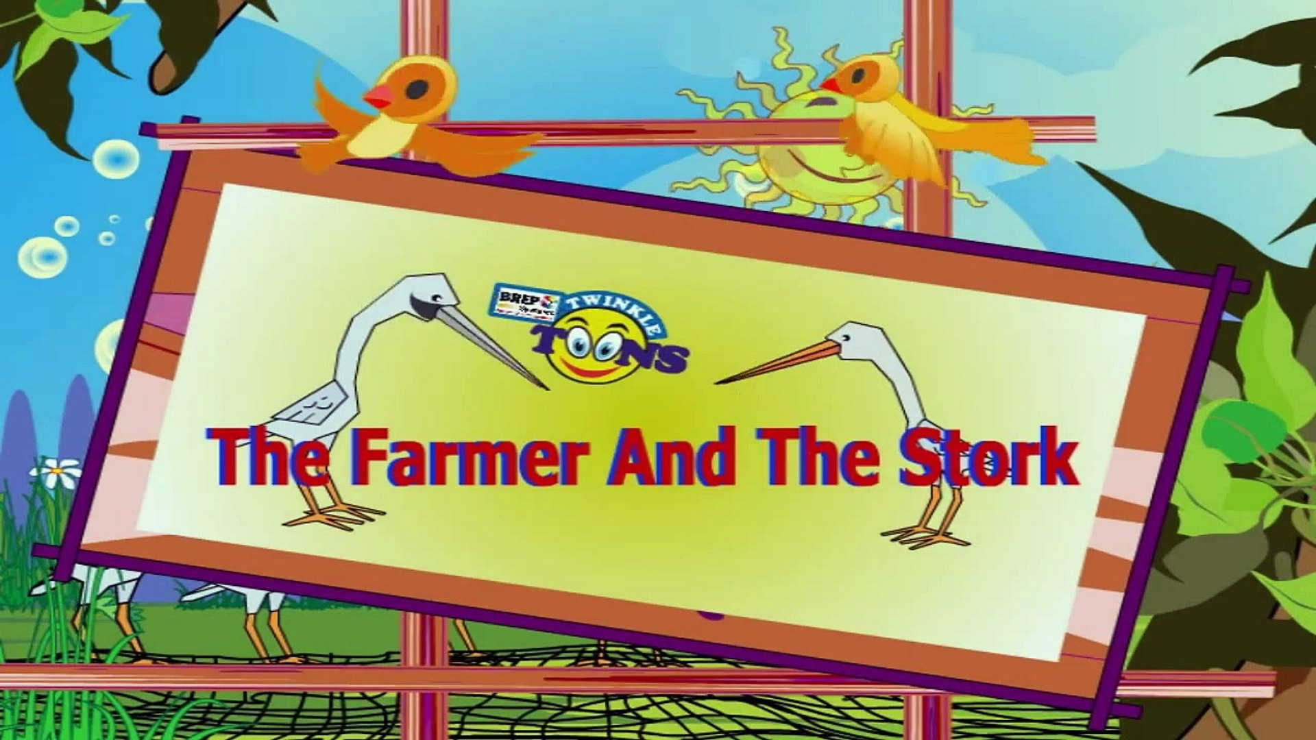 The Farmer And The Stork ## Moral Story In English - Kids Education