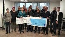 Hautes-Alpes : Remise de chèques pour des entrepreneurs de l'embrunais-savinois