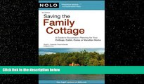 Books to Read  Saving the Family Cottage: A Guide to Succession Planning for Your Cottage, Cabin,