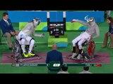 Wheelchair Fencing   Men's Individual Sabre Cat A   PYLARINOS v TIAN   Rio 2016 Paralympic Games HD
