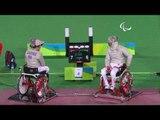 Wheelchair Fencing |  PLUTA v CASTRO |Men's Individual SabreB bronze | Rio 2016 Paralympic Games