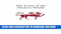 [PDF] The Crisis of the Modern World (Collected Works of Rene Guenon) Popular Online