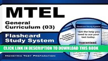 [New] MTEL General Curriculum (03) Flashcard Study System: MTEL Test Practice Questions   Exam