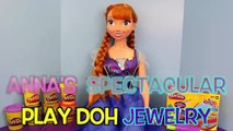 Frozen Anna Disney My Size Anna Play Doh Jewelry Necklace Bracelet Anklet and Play Doh Ring